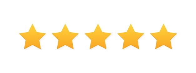 Pięć gwiazdek ocena produktu przez klientów. nowoczesne mieszkanie