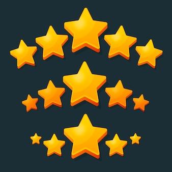 Pięć gwiazdek ocena złota.