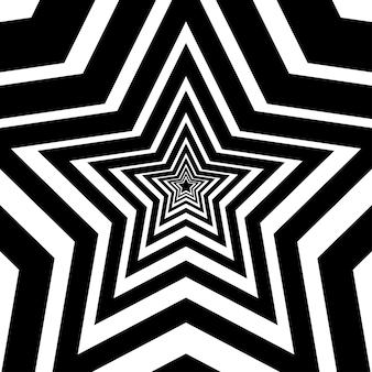 Pięć spiczastych gwiazd wektor ikona sztuki tło czarne gwiazdki znak
