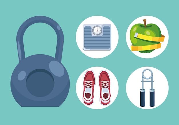 Pięć urządzeń do ćwiczeń fitness
