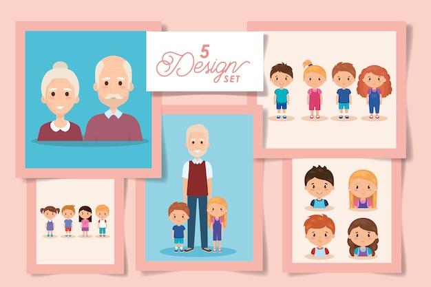 Pięć wzorów dziadków z wnukami