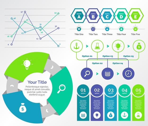 Pięć zestawów szablonów badawczych