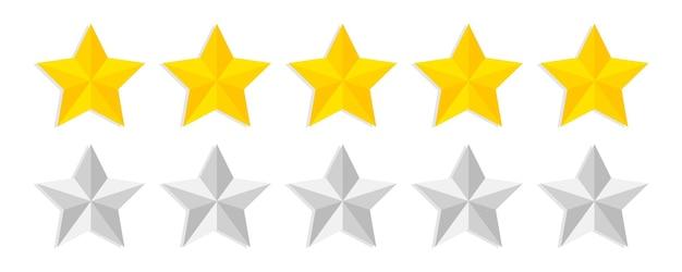 Pięć złotych gwiazdek zadowolenia i pozytywna recenzja eedback reputacja jakość opinii klientów