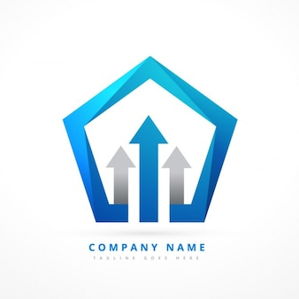 Pięciokątny szablon logo