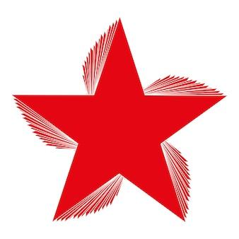 Pięcioramienna gwiazda wektor ikona na białym tle znak czerwonych gwiazdek