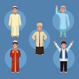 Pięciu arabskich mężczyzn