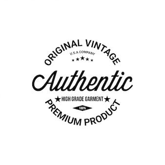 Pieczęć autentycznej typografii