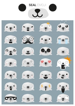 Pieczęć ikon emoji