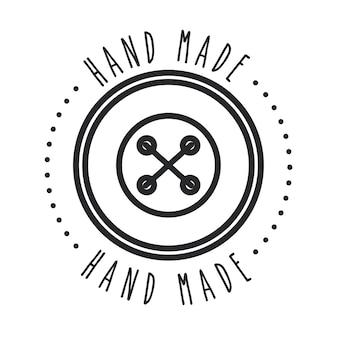 Pieczęć pieczęć ręcznie wykonane koncepcja z ikoną przycisku