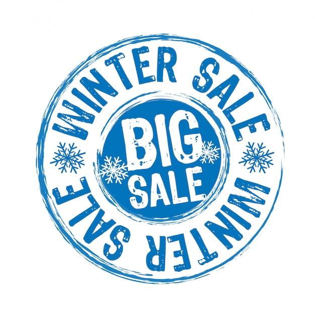 Pieczęć sprzedaży zimowych