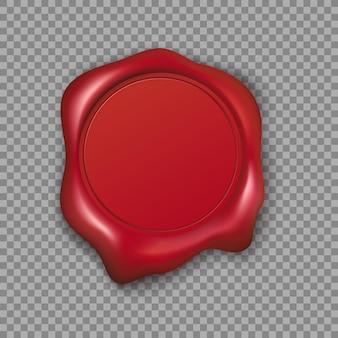 Pieczęć woskowa czerwona
