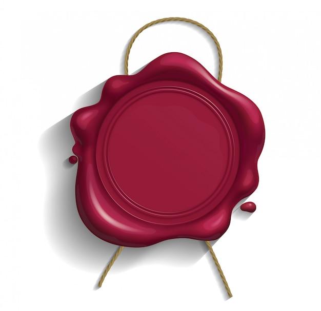Pieczęć z czerwonego wosku