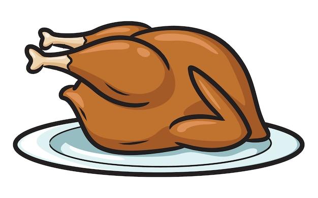 Pieczony kurczak z kreskówek