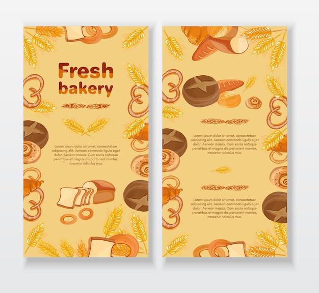 Piekarni cukierniany menu projekta szablon