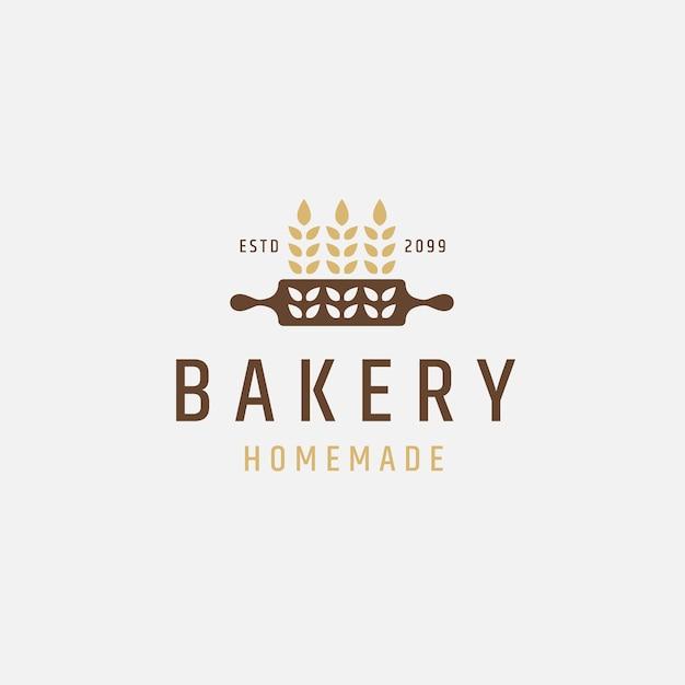 Piekarnia logo ikona szablon projektu płaski wektor