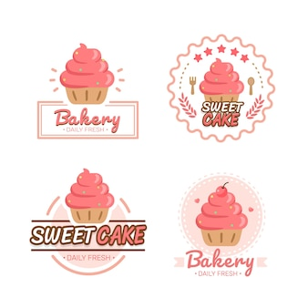 Piekarnia logo szablon piekarnia ikona piekarnia odznaki etykiety ikony