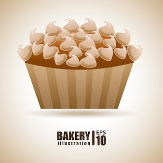 Piekarnia na beżowej ilustracji