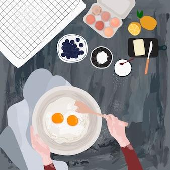 Piekarz do pieczenia w kuchni