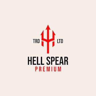 Piekielna włócznia z początkowym logo h vintage premium