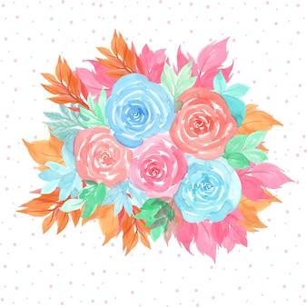 Piękna akwarela kwiatowy tło