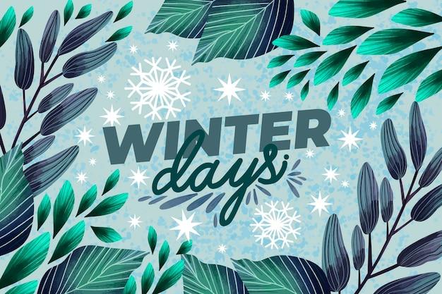 Piękna akwarela zimowa tapeta