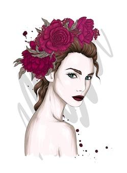 Piękna dziewczyna w stylowych ubraniach