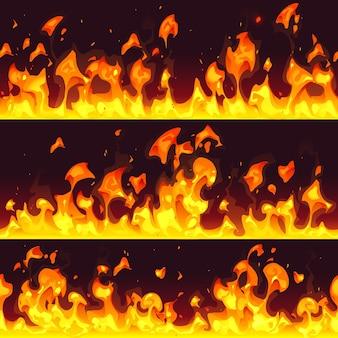 Piękna granica ognia z kreskówek
