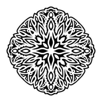 Piękna ilustracja monochromatyczna z abstrakcyjnym czarnym wzorem