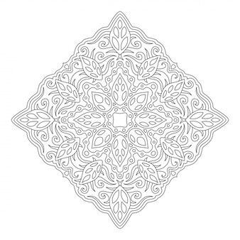Piękna ilustracja monochromatyczne do kolorowania książki na białym tle