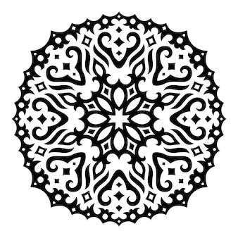 Piękna ilustracja monochromatyczne z gwiaździstym plemiennym czarnym wzorem astrologii na białym tle