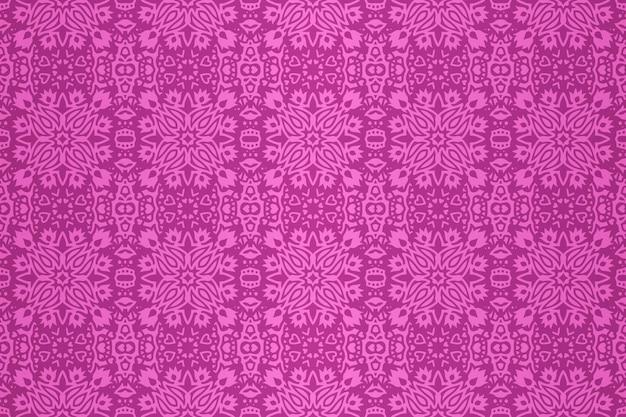Piękna ilustracja wektorowa z abstrakcyjnym różowym kwiatowym wzorem bez szwu