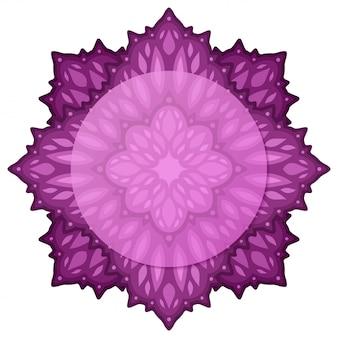Piękna ilustracja z izolowanych na białym tle ciemny fioletowy abstrakcyjny wzór z miejsca na kopię