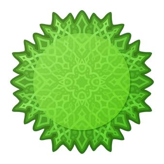 Piękna ilustracja z izolowanymi na białym tle zielony