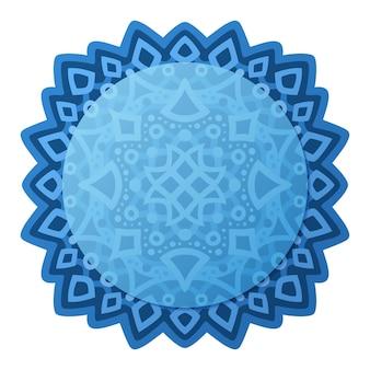 Piękna ilustracja z niebieskim abstrakcyjny wzór i okrągłe miejsce na kopię na białym tle