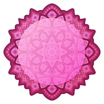 Piękna ilustracja z różowym abstrakcyjnym wzorem wschodnim