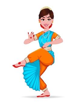 Piękna indyjska dziewczyna, nadająca się do lohri, pongal