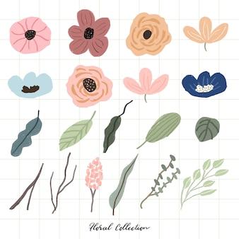 Piękna indywidualna kolekcja kwiatowa