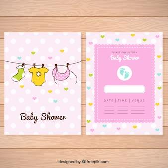 Piękna karta baby shower