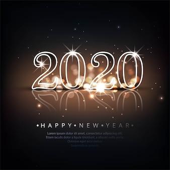 Piękna karta obchodów nowego roku 2020
