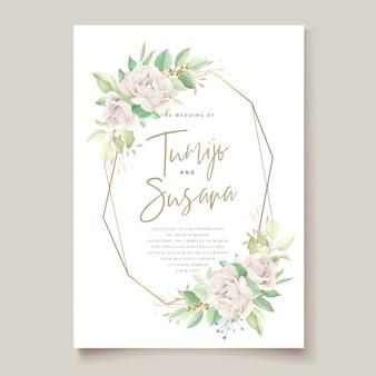 Piękna karta zaproszenie na ślub