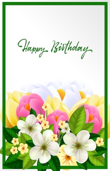 Piękna kartka urodzinowa