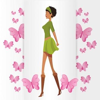 Piękna kobieta z motylem