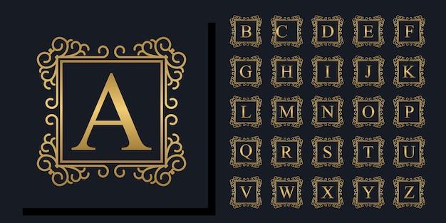 Piękna kolekcja kwiatowy alfabet
