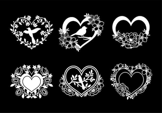 Piękna kolekcja miłości monogram