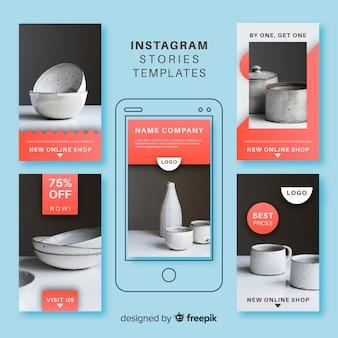 Piękna kolekcja szablonów historii instagramów