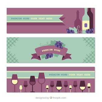 Piękna kolekcja transparenty wina