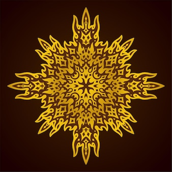 Piękna kolorowa ilustracja z błyszczącym złotym abstrakcyjnym wzorem na fioletowym tle