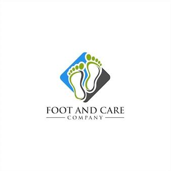 Piękna koncepcja logo foot and care