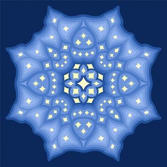 Piękna kosmiczna ilustracja z abstrakcyjnym wzorem gwiaździstym na białym tle