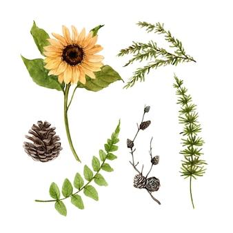 Piękna kreatywnie jesieni akwareli ilustracja dla dekoracyjnego use.